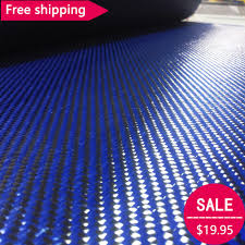 real carbon fiber cloth fabric 2x2 twill 40 034 3k 5 9oz 200gsm carbon fiber blue kevlar 70cm wide mixed fabric carbon aramid cloth 200gsm