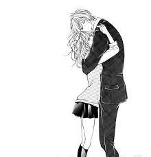 """Résultat de recherche d'images pour """"couple manga mignon noir et blanc"""""""
