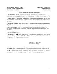 VHA Directive 0320.07, <b>Dual Use Vehicle</b> (DUV) Program