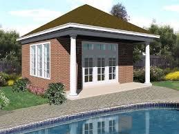 Pool House Plans and Cabana Plans   The Garage Plan ShopPlan P