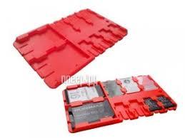 <b>Футляр REFI Holder SD</b> / microSD / SIM Red