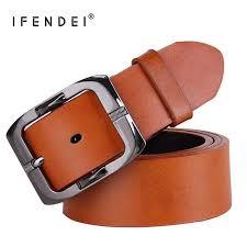 <b>IFENDEI</b> Women's <b>Belt</b> For Jeans PU <b>Leather Men's Belt</b> Needle ...