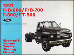 1991 ford truck cab foldout wiring diagram f600 f700 f800 ft900 1991 ford f b c 600 8000 medium heavy truck electrical troubleshooting manual