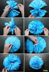 Цветы из гофрированной бумаги на картоне