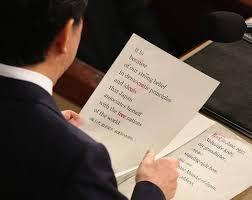 「安倍総理の米議会演説」の画像検索結果