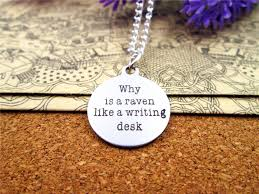 online get cheap writing gift com alibaba group fashion stainless steel necklace quot is a reven like a writing desk quot charms pendant