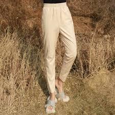 <b>Genuine Leather</b> Streetwear Harem Pants <b>Real Leather Sheepskin</b> ...