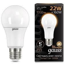 <b>Лампа Gauss LED A70</b> 22W E27 1560lm 3000K купить в ...