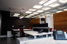 small office space interior design 2343 simple white desks and dark working chairs under ceiling in amazing netflix office space design