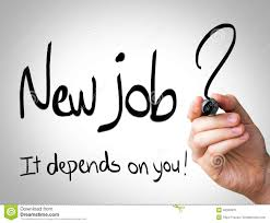 new job it depends on you hand writing black marker on new job it depends on you hand writing black marker on transparent wipe board