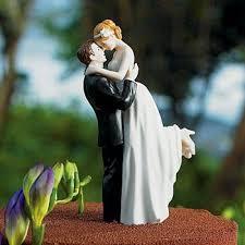 Bride and Groom <b>Figurine Wedding Cake Toppers</b>