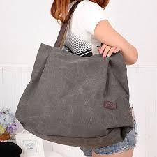 <b>Simple Big Capacity</b> Design Canvas Shoulder Bag | Bags, Girls ...