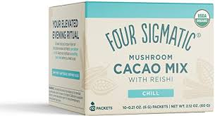 Four Sigmatic <b>Mushroom Cacao Mix with</b> Reishi 10 Packets ...