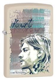 <b>Зажигалка ZIPPO Kurt Cobain</b> с покрытием Cream Matte, латунь ...