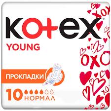 "<b>Kotex</b> Женские гигиенические <b>прокладки</b> с крылышками ""<b>Young</b> ..."