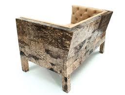 covered in birch bark the surprising furniture collection from netherlands based furniture designer werner bark furniture