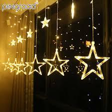 3.5M 138Leds <b>Moon Star LED</b> Curtains String Lights Garland On ...