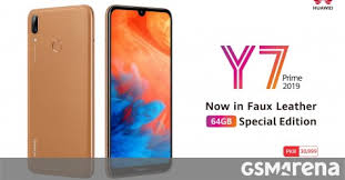 Huawei Y7 Prime (<b>2019</b>) <b>faux leather</b> limited edition launched ...