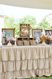 rustic themed bedroom western theme decor adult candy favor table at a chalk chalkboard and burlap themed baptism lunc