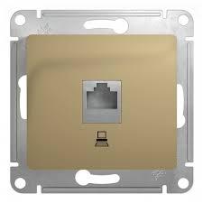 <b>Розетка компьютерная</b> без рамки титан Глосса <b>Schneider Electric</b> ...