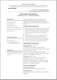sample microsoft office resume templates resume sample resume template ms word 2003 example for office support professional experience