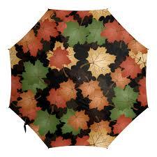<b>Зонт</b>-<b>трость с деревянной</b> ручкой листья клена осень #2524914 ...