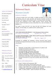 resume document controller