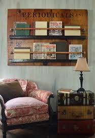 Reclaimed <b>Wood</b> Door Vintage Bookshelf and <b>Magazine Rack</b> ...