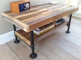 plumbing pipe furniture industrial wood steel coffee table or media stand reclaimed barnwood with industrial pipe legs the things i would be making amazoncom furniture 62quot industrial wood