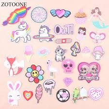 <b>ZOTOONE Unicorn</b> Animals Parches Embroidery Iron On Patches ...