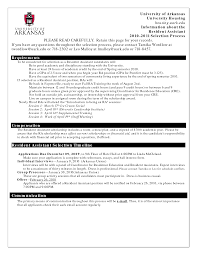 resident assistant resume getessay biz 10 images of resident assistant resume