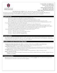 resident assistant resume getessay biz 10 images of resident assistant resume