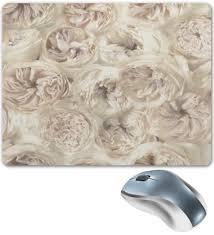 Коврик для мышки <b>Белые цветы</b> #2264270 от ZoZo