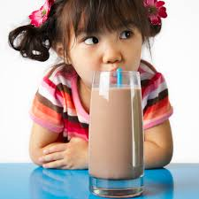 Child Drinking Chocolate Milk
