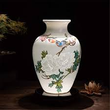 ZSCRL Ceramic vases Famous hand-painted lotus vases <b>Modern</b> ...