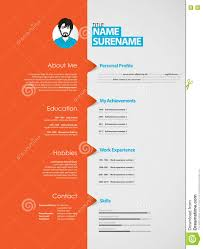 creative curriculum vitae template orange stripe stock creative curriculum vitae template orange stripe