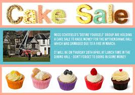 fundraising manchester health academy wythenshawe hall cake poster