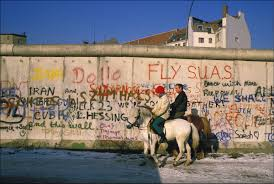 in the swimming pool a view of the berlin wall image patrick piel gamma rapho via getty images
