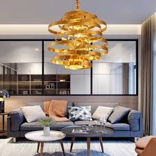 Vintage Gold Round LED Pendant Light Vertigo <b>Modern Lustre</b> ...