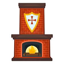Понятие <b>значка</b> камина Огненная сторона на белом фоне ...