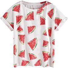 <b>2018 Women Summer</b> Tops Short Sleeve <b>T</b>-<b>Shirt</b> Watermelon ...