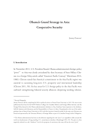 obama s grand strategy in asia cooperative security
