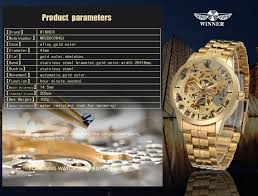 Winner <b>Men's Watch</b> Top Brand <b>Luxury Automatic Skeleton</b> Gold ...