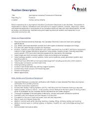 industrial electrician resume experience resumes industrial electrician resume