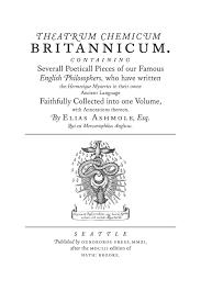 theatrum chemicum britannicum documenting the ouroboros press theatrum chemicum britannicum title page