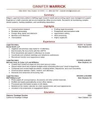 legal secretary receptionist resume cancellation of contract legal gallery of legal secretary resume samples