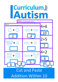 Cut and Paste Addition 1-10 Maths Worksheets, Autism, Special ...Preview resource