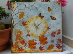 Sarah Kay's dancing leaves-Handmade decoupaged wooden <b>wall</b> ...