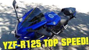 2019 <b>Yamaha YZF-R125</b> TOP SPEED + GPS TOP SPEED! - YouTube