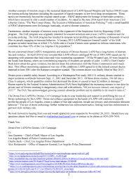 letter to la or demanding drone lapd stop lapd spying endorsement letter no drones